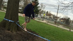 Trying the Slackline